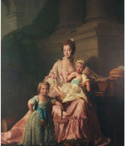 ALLAN RAMSAY ET SON ATELIER (EDIMBOURG 1713 DOUVRES 1784) La Reine Charlotte et …