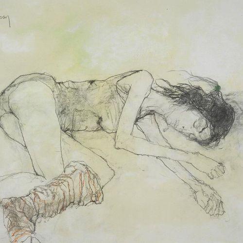 JEAN JANSEM (1920 2013) Les jambiéres rouges au repos, 2006 Dessin au crayon et …