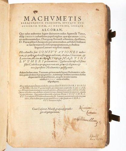 [CORAN]. BIBLIANDER, Theodore. Machumetis Saracenorum Principis, eiusque success…