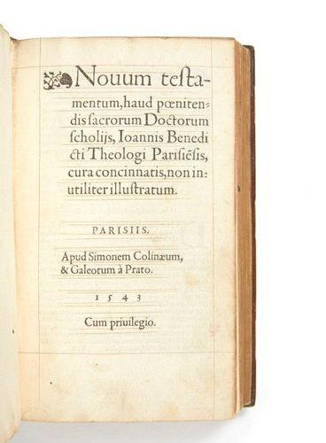 [BIBLE]. Novum Testamentum, haud poenitendis sacrorum Doctorum scholiis, Ioannis…