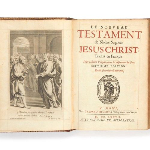 [BIBLE]. The New Testament of our Lord Jesus Christ, translated into French acco…