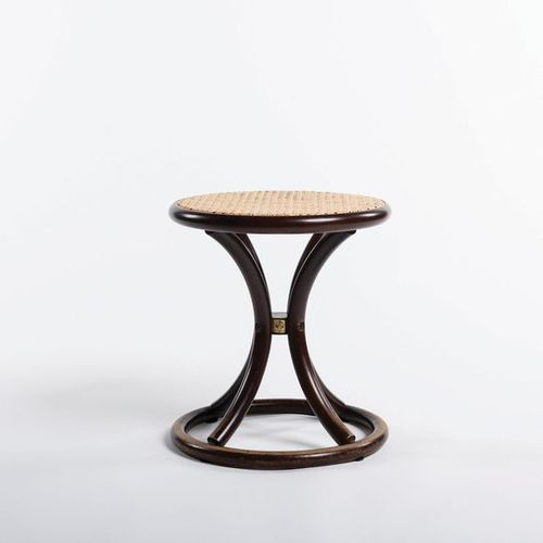 RIKI WATANABE (1911 2013) Stool Bent wood and rattan Around 1980 1990 Akita Mokk…