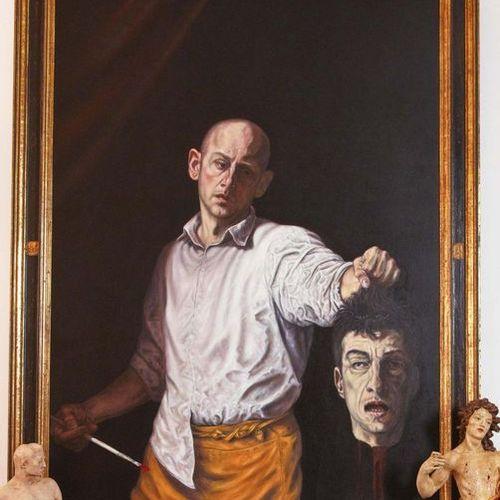 DAVID DALLA VENEZIA (CANNES 1965) Who Killed Cattelan, 2007 Olio su tela Firmato…