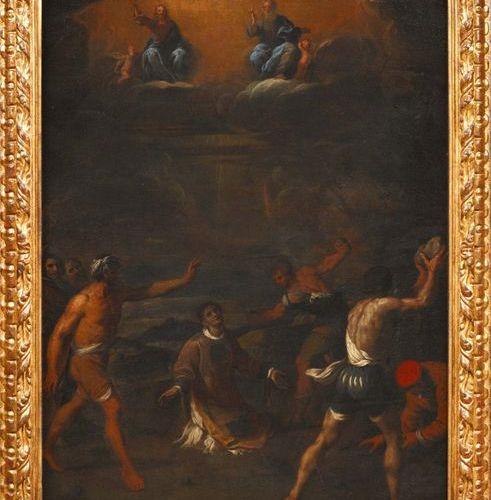 SCUOLA ROMANA DEL XVII SECOLO,AMBITO DI PIER FRANCESCO MOLA Lapidazione di santo…