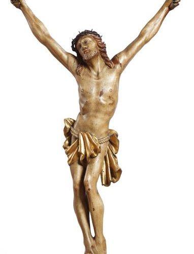 Cristo in legno scolpito, policromo e dorato Northern Italy, XVII/XVIII secolo C…