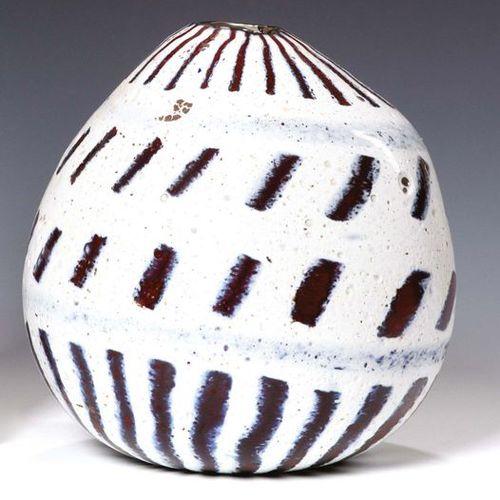MURANO Vaso in pasta di vetro bianca e rosso trasparente White and red transpare…