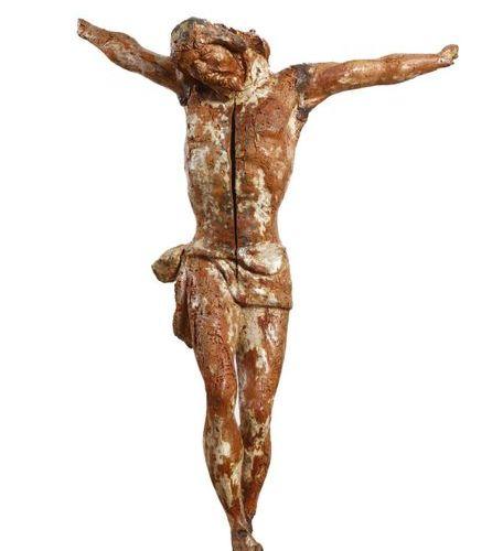 CRISTO in legno scolpito XVI secolo (danni e mancanze, una fenditura) Carved woo…