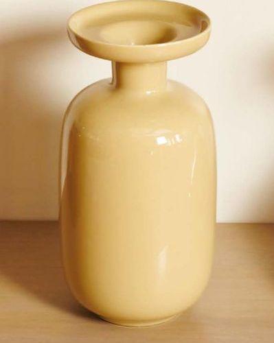 GIO' PONTI (1891 1979) Vaso ovoidale a collo stretto e svasato in ceramica smalt…