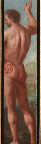 Scuola Veneta del XVII secolo Figura virile in piedi, di schiena Olio su tela in…