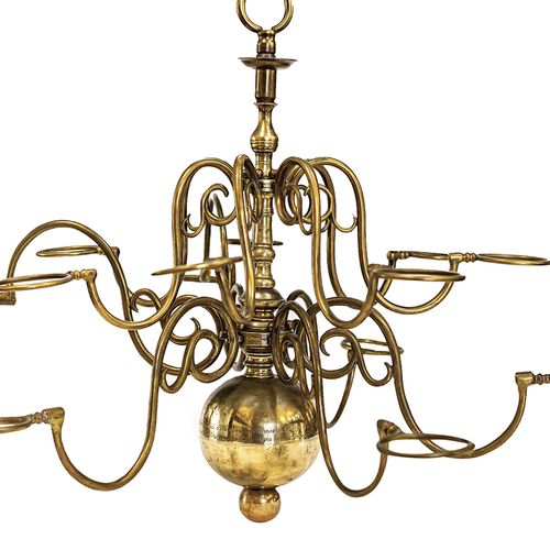 A large and important bronze chandelier The Netherlands, 1676 The chandelier con…