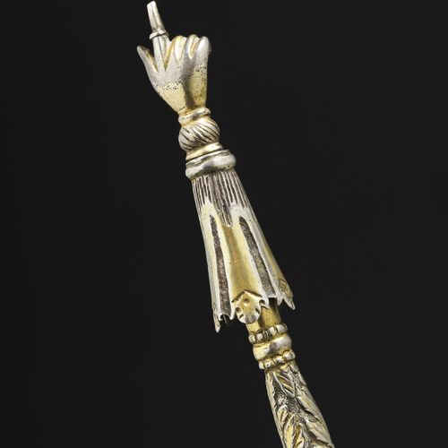 A Galician silver and silver gilt Torah pointer Circa 1770 This pointer is a ver…