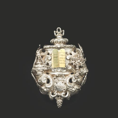An 18th century North Italian silver amulet Very fine craftmanship. Decorated wi…