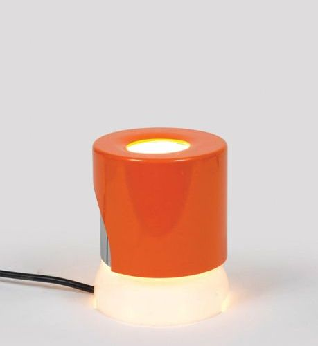 Joe COLOMBO (1930 1971) A « 4024/5 » lamp by Joe Colombo in red ABS, plexiglas a…