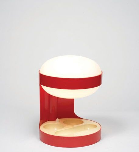 Joe COLOMBO (1930 1971) A « KD27 » lamp by Joe Colombo in red and white ABS made…