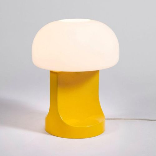 ETTORE SOTTSASS (ATTRIBUÉ À) A table lamp attribued to Ettore Sottsass in yellow…