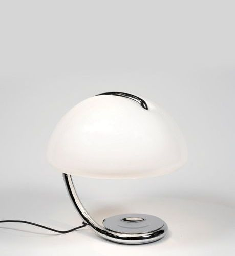 Elio Martinelli (1921 2004) A « Serpente 599 » lamp by Elio Martinello in chrome…