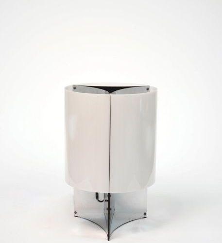 MASSIMO VIGNELLI (1931 2014) A « 526 » lamp by Massimo Vignelli in metal and per…
