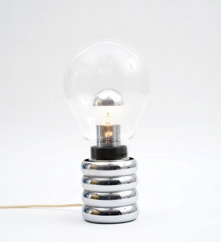 INGO MAURER (1932 2019) A « Bulb » lamp by Ingo Maurer in chromed metal and glas…