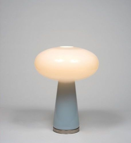 Gino Vistosi (1925 1980) Gino Vistosi in Nickel plated metal and celadon glass m…