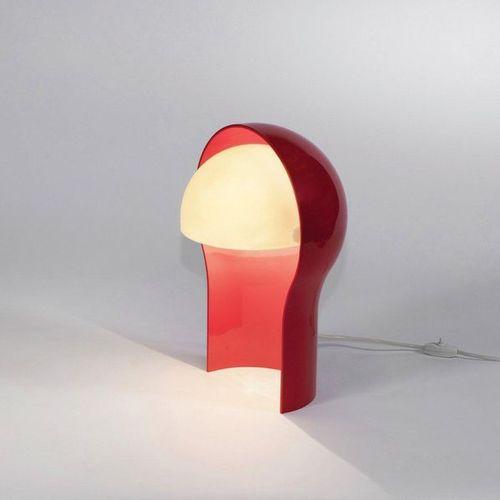 VICO MAGISTRETTI (1920 2006) A « Telegono » lamp by Vico Magistretti in red ABS …
