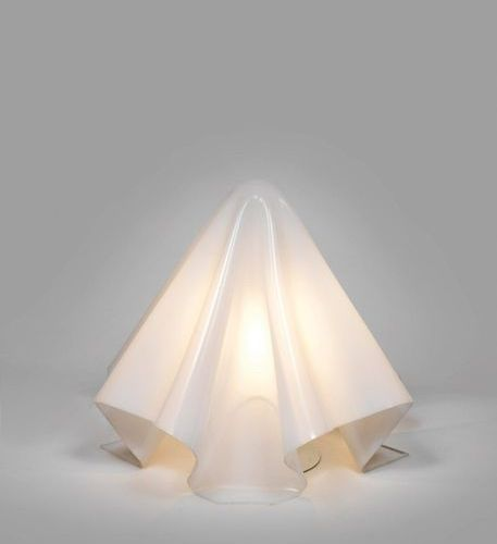 Shiro KURAMATA (1934 1991) An « Oba Q » lamp from the « K serie » in opaline and…