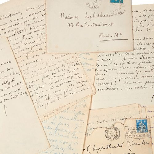 PERRIN (Germaine). Correspondence addressed to Colette Steinlen. [1922 1932]. Se…