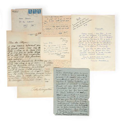 DÉSORMIÈRE (Roger)]. Set of 45 letters addressed to Roger Désormière, mainly fro…