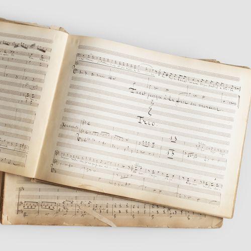 "JEAN CONTE (1830 1888). Set of manuscripts, some autographed, relating "" La fian…"