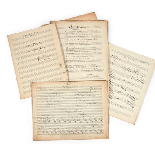 DÉSORMIÈRE (Roger). Set of partly autographed scores, some in the hand of copyis…