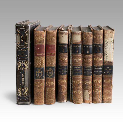 Lot of books including: GOLDSMITH (Oliver) The Vicar of Wakefield. Bourgueleret,…