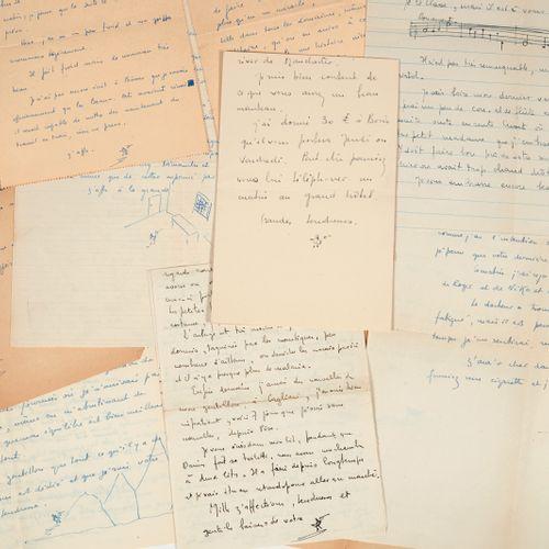DÉSORMIÈRE (Pierre Roger). Correspondence addressed to Colette Steinlen. [1921 1…
