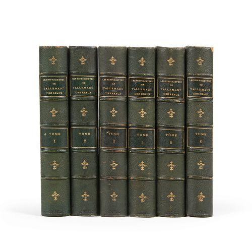 (SAINTE BEUVE) TALLEMANT DES REAUX Les Historiettes. Techener, 1862. 6 volumes. …