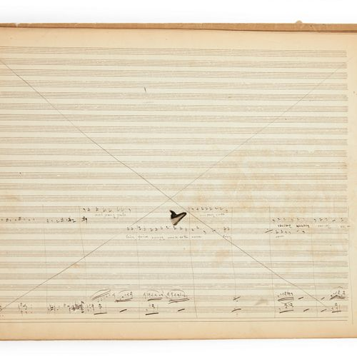 """JACQUES OFFENBACH (20 JUNE 1819 5 OCTOBER 1880). Set of autograph sketches for """"…"""