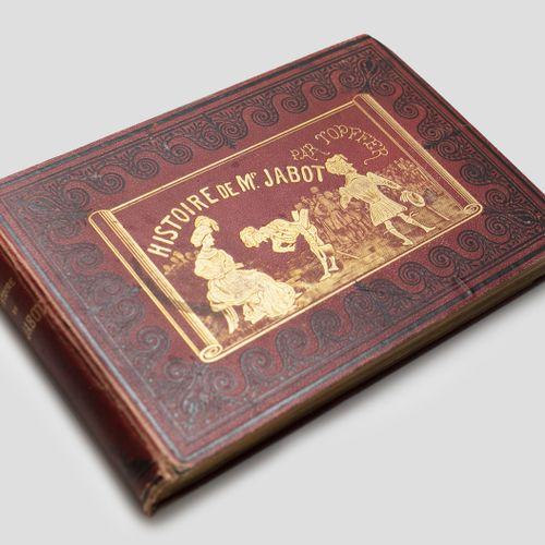 Histoire de Mr Jabot, Geneva 1833 Used binding (scratches on the front cover, sp…