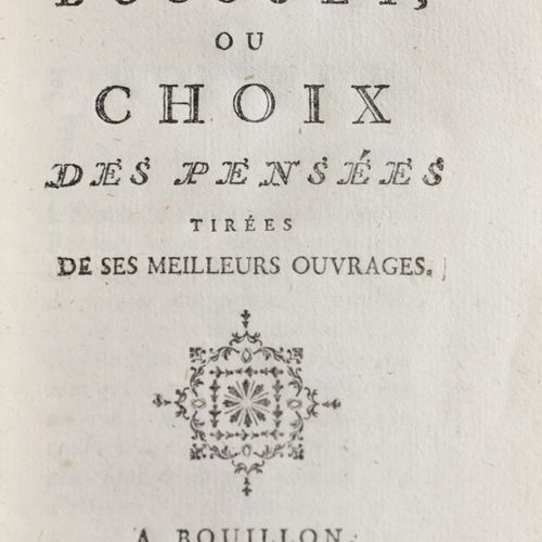 BOSSUET (Jacques Bénigne). The Spirit of Bossuet, or choice of thoughts drawn fr…