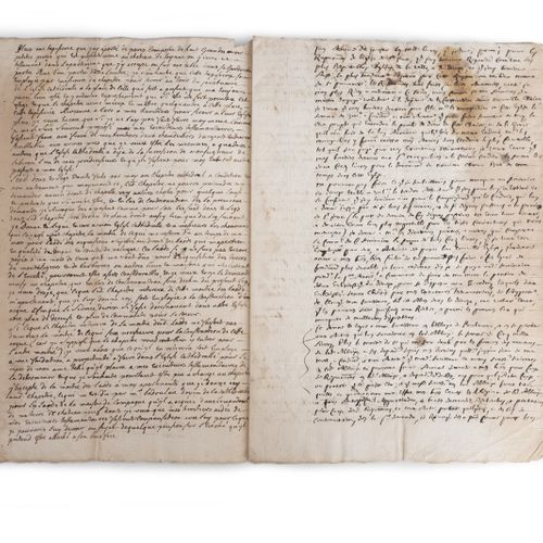 CATELLAN (Jean de). Manuscript copy of his will. No place or date [ca. 1720/1725…