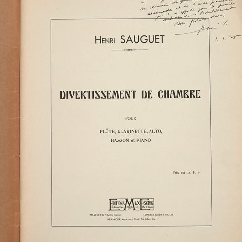 DÉSORMIÈRE (Roger)]. 13 printed documents related to music: scores, theoretical …