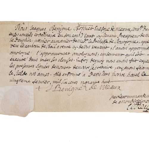 Homologation of a contract of lease for sale. Paris, February 20, 1698. Handwrit…