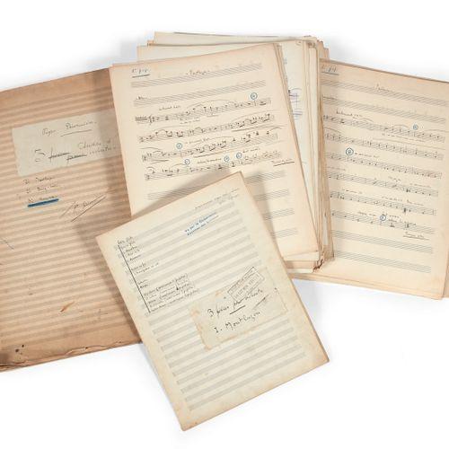 DÉSORMIÈRE (Roger). 3 orchestra studies. 1° Montluçon 2° Bourg Lastic 3° Versail…