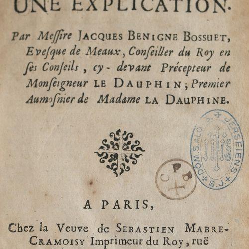 BOSSUET (Jacques Bénigne). The Apocalypse with an explanation. Paris : Veuve de …
