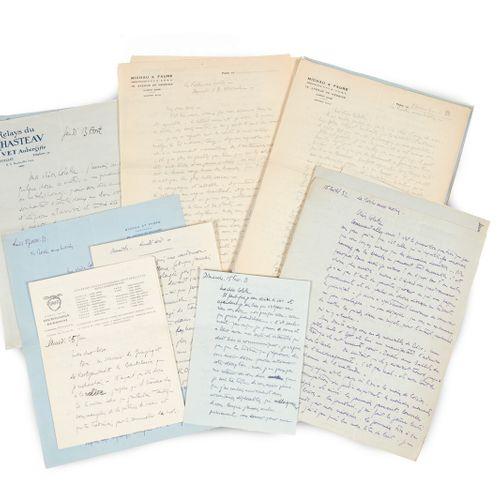 FAURE (Roger), Colette STEINLEN & Roger DÉSORMIÈRE. Crossed correspondence. 1930…