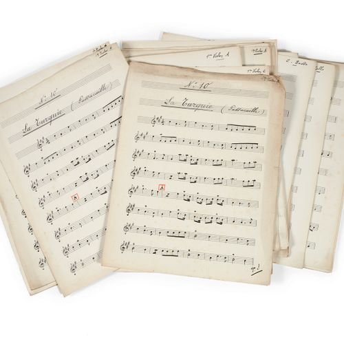 DÉSORMIÈRE (Roger). Important collection of manuscript scores, sometimes autogra…