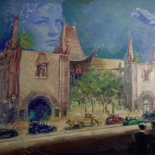 Jean Louis Pan (né en 1943) Chinese theater  Acrylic on canvas.  Signed lower ri…