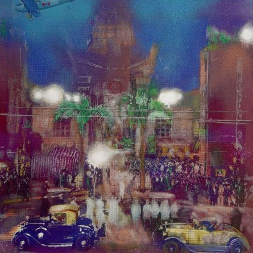 Jean Louis Pan (né en 1943) The crown Chinese theater, 1978  Acrylic and spray o…