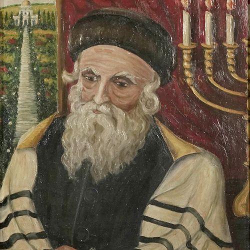Marie Verdi Portrait of a Rabbi  Oil on panel.  Signed lower right.  H_49 cm W_3…