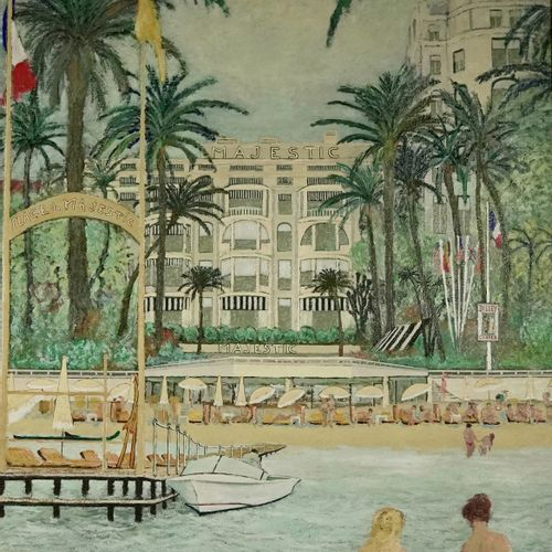 Ramon DILLEY (né en 1933) The Majestic A love of Cannes, 1985  Oil on canvas  Si…