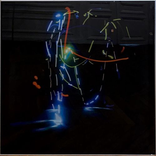 Zivo Untitled  Serigraphy on plexiglass.  H_100 cm W_100 cm    Offered by Marlèn…