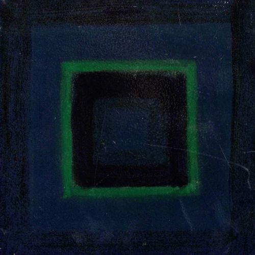 Renée Amitaï Homage to Albers  Oil on wood.  Signed on the back.  H_14 cm W_14 c…