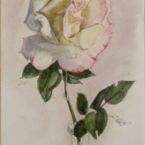 Ecole Moderne XXème siècle The Rose  Watercolor on paper.  Bears a signature Gim…