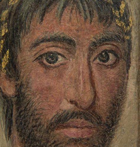 PORTRAIT DU FAYOUM. Il représente un homme jeune de haut rang, d'environ vingt c…